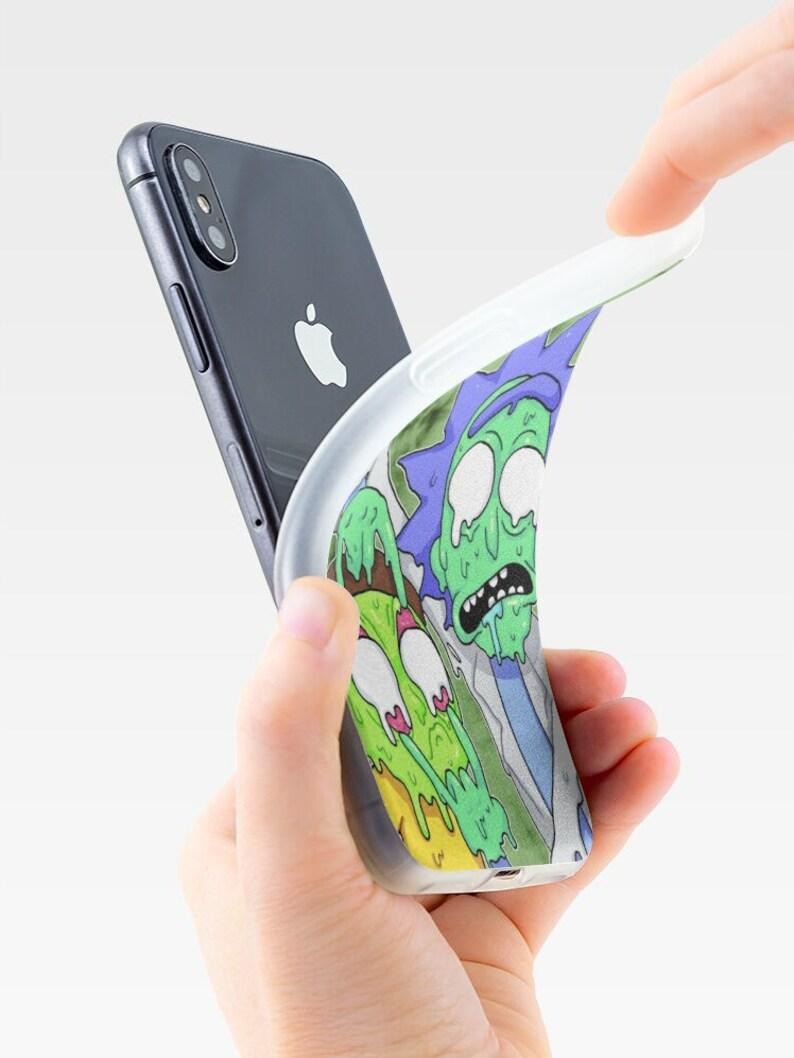 Rick Phone Case Funny Rick Soft Case Morty Phone Case Cartoon iPhone Case Rick and Morty Phone Case Rick back case.