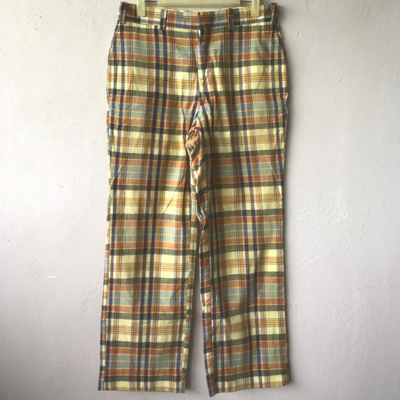 Vintage 90s J Press Checkered Tartan Trousers Pant
