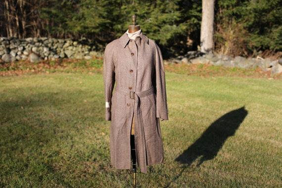 LeBow 100% Wool Herringbone Top Coat