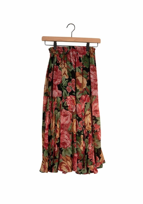 Laise Adzer Floral Peasant Skirt - image 2