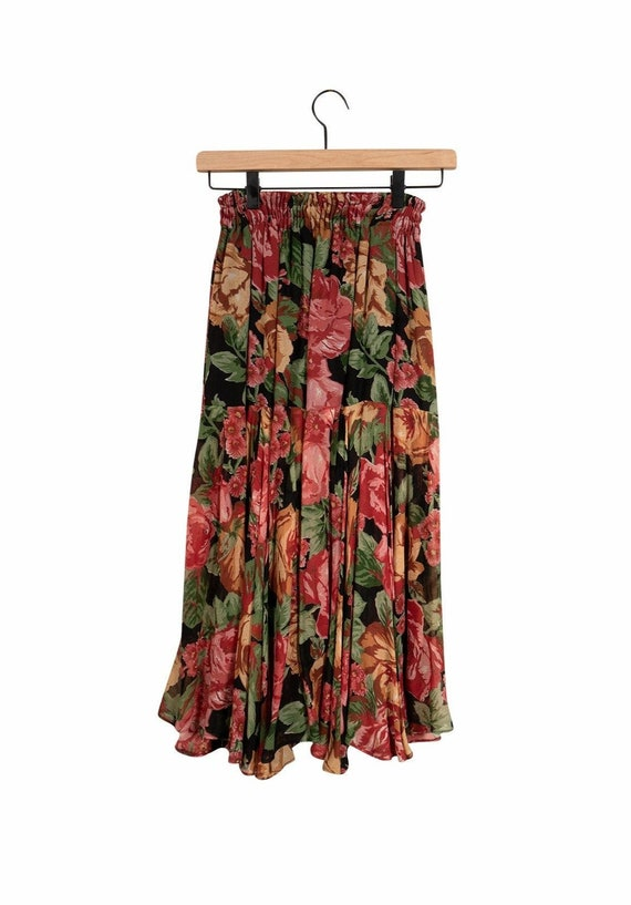 Laise Adzer Floral Peasant Skirt - image 1
