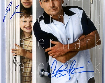 Two and a Half Men signed 8X10 print photo photograph picture poster wall art autograph RP