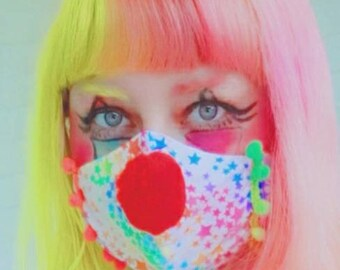 Clown Nose Pom Pom Face Masks