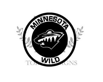 Minnesota SVG /& Studio 3 Cut File Decal Files Logo for Silhouette Cricut SVGS Cutouts Hockey Decals Wild
