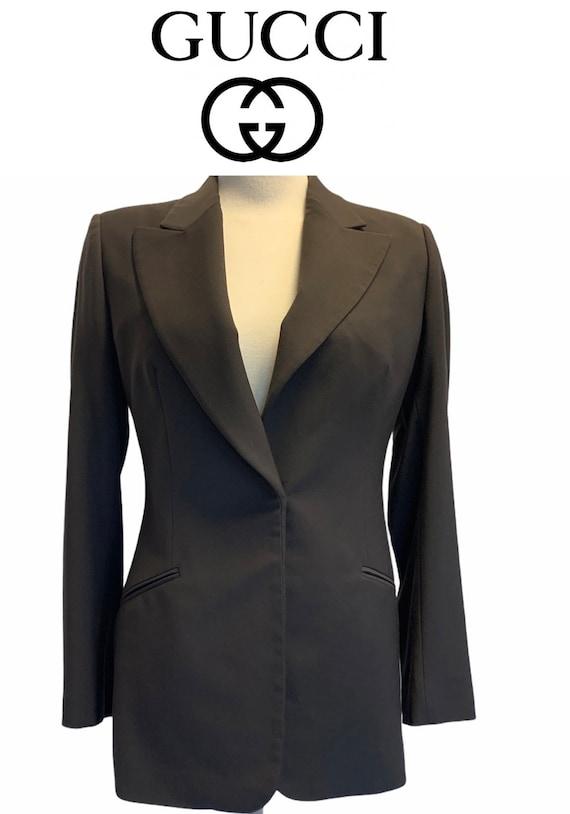 Gucci vintage dark brown wool blazer size 42
