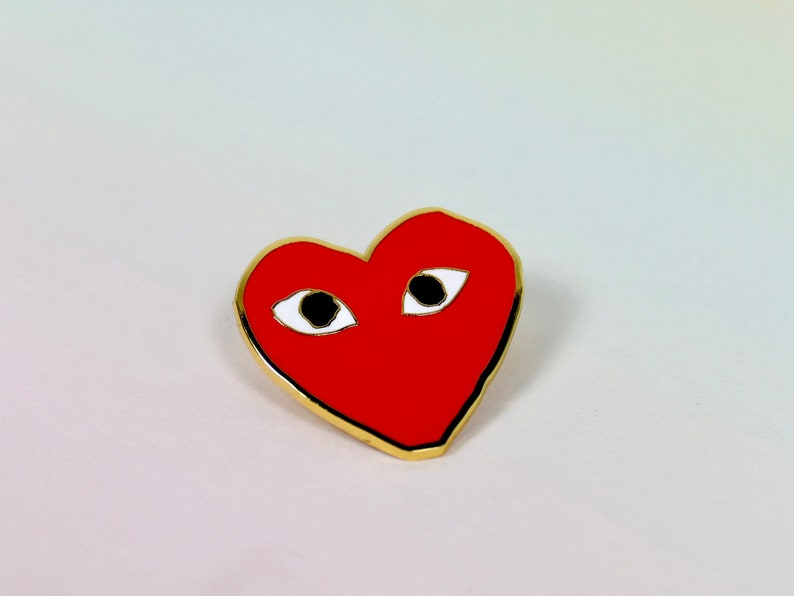 Collectible Valentines Day Hard Enamel Heart Pins