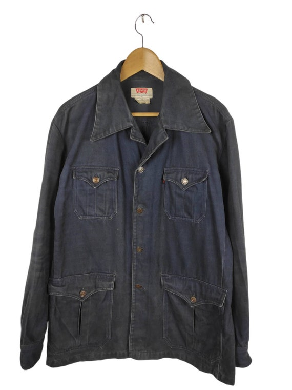 Vintage Sun Faded Levis Workwear Button Up Jacket