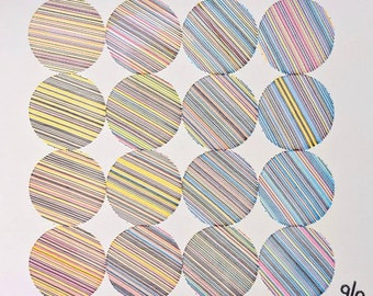 CMYK Circles from Lines 4x4