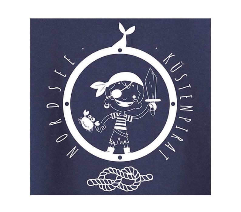 Kids Longsleeve maritim Coastal Pirate North Sea Screen Print