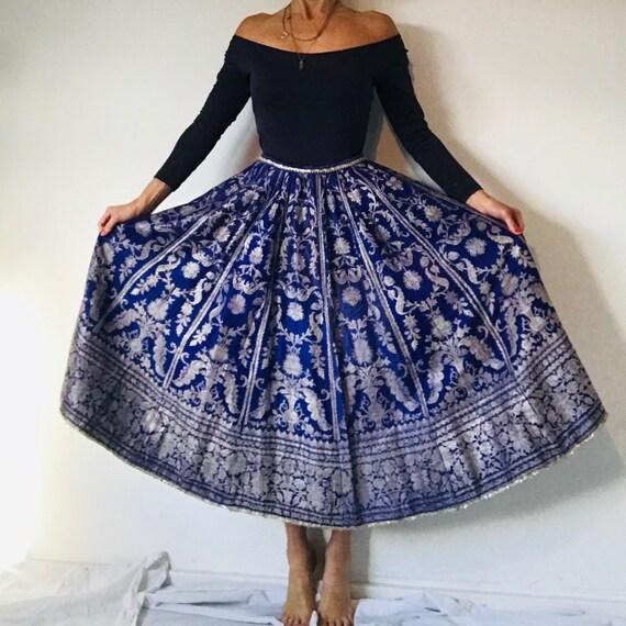 Vintage silk brocade Lehenga skirt