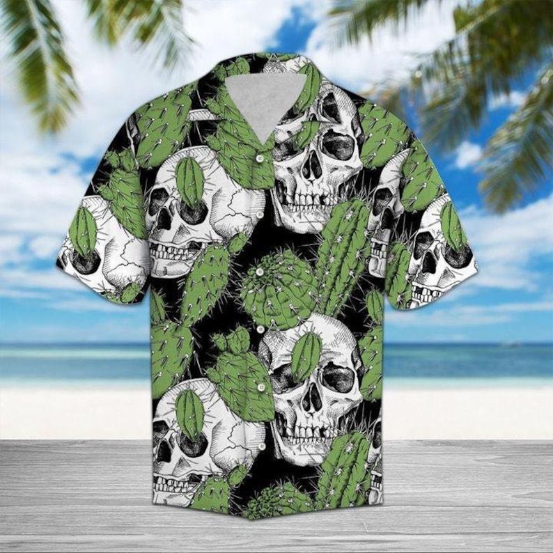 Skull Hawaiian Shirt For Men And Women | Summer Vacation Shirt | Summer Hawaiian Style | Hawaii Beach Shirt Sweatshirt
