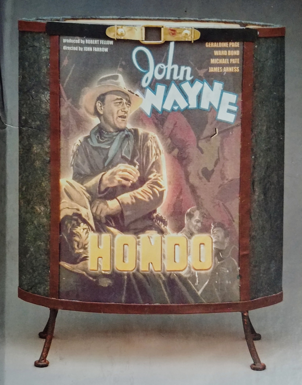 John Wayne Hondo Paper Lamp - Styled like the 50's paper lamp