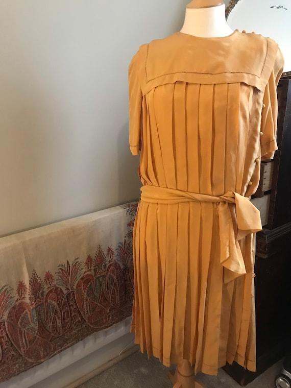 1930's Vintage gold dress