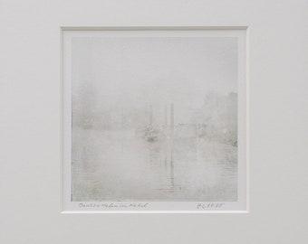 Deutzer Hafen in the fog