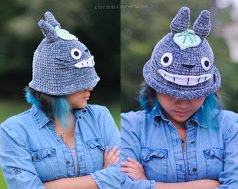 PDF Pattern - Totoro Crochet Hat