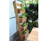 Vertical Ladder Planter Plan, Veggie Planter, Outdoor Planter, garden planter plan, Wood Planter PDF plan