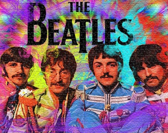 Beatles puzzle | Etsy