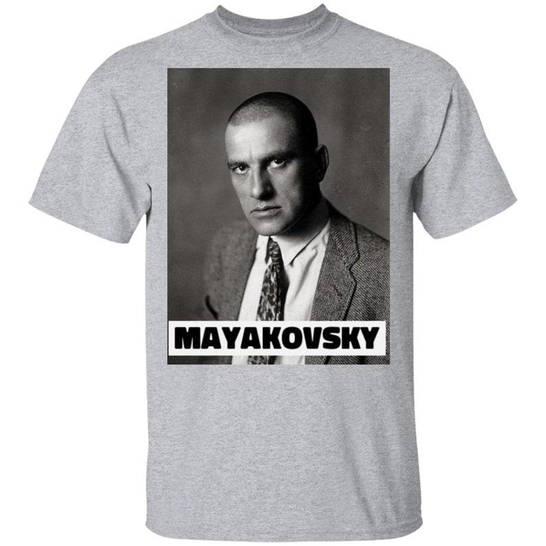 Vladimir Mayakovsky Russian Poet T-shirt World Literature T-shirts G500 5.3 oz T-Shirt