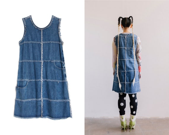 90s -2000s Jean Paul Gaultier Jeans  Denim dress /