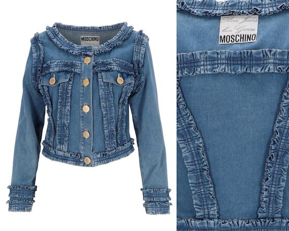 MOSCHINO Denim Ruffle Jacket 1990s/ 90s Moschino J