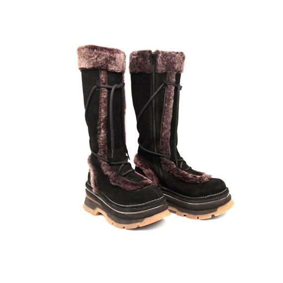 90s - 2000s Vintage Boots / High Platform Boots