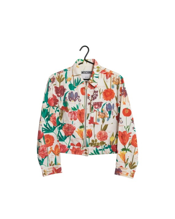 1990s MOSCHINO Floral Jacket / 90s Moschino Chest