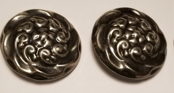 Vintage Sterling Clip Earrings
