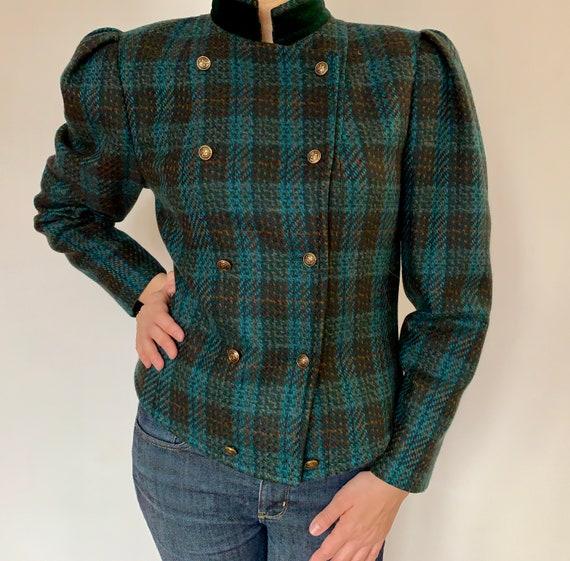 Vintage tartan wool jacket