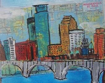 Minneapolis Bridge Collage reprint