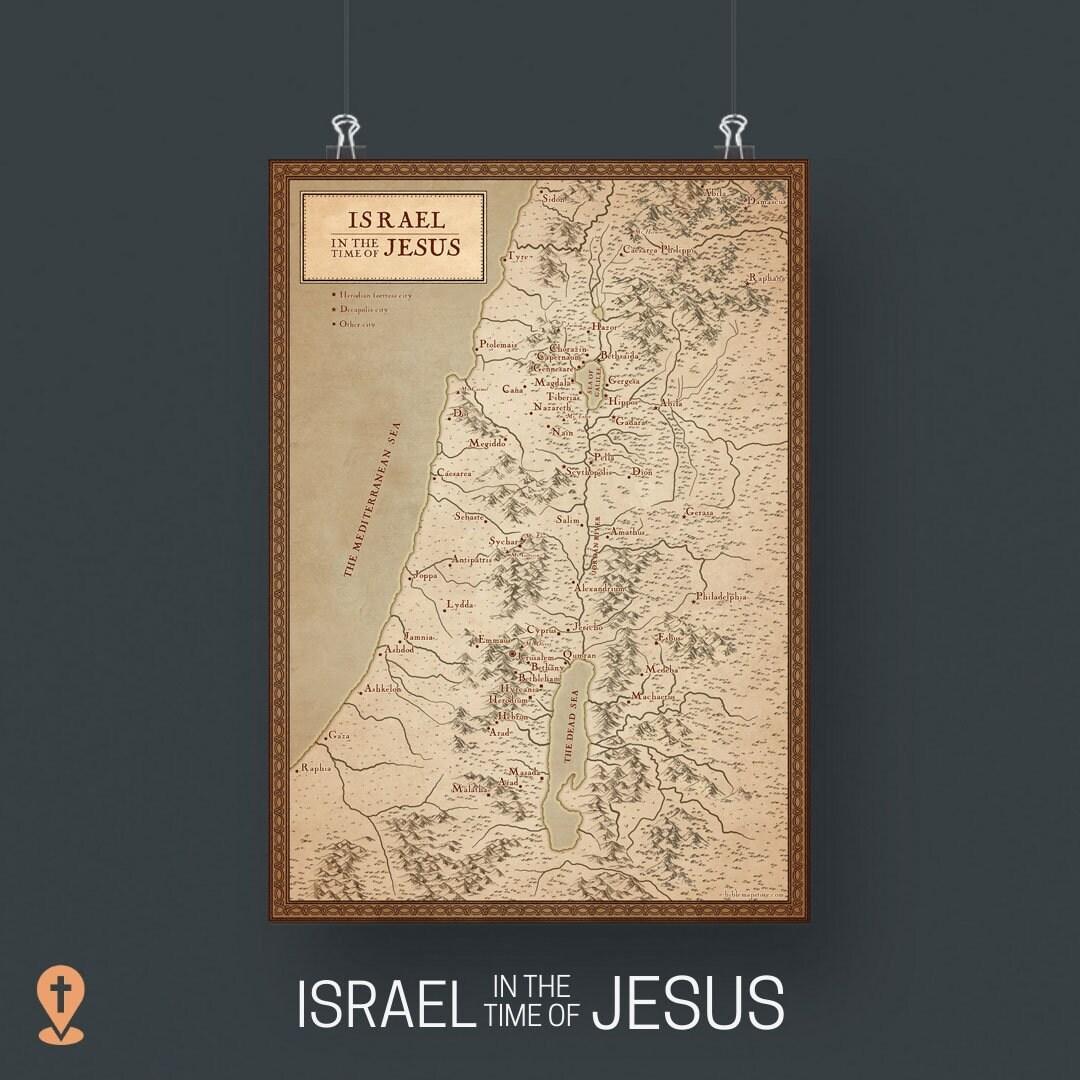 Landkarte israel zur zeit jesu für kinder