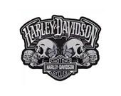 Harley Davidson Large Skulls Back Patch