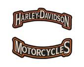 Harley Davidson Large Full Back Rocker Patch