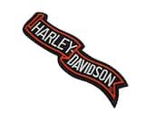 Harley Davidson Ribbon Iron on Patch