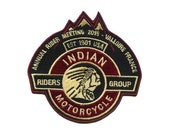 Indian Motorcycle Riders Group Emblem Iron on Badge