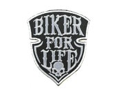 Biker for Life Iron on Patch