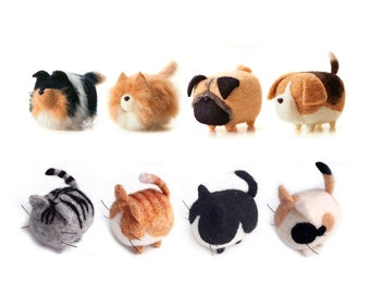 Cat and Dog Needle Felting Kits for Beginners with English Instruction Christmas Gift for Mom, Grandma