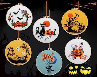 Halloween Embroidery Kit Halloween Decor - Home Decor Gift Full Set
