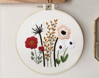 English Manual 1 Plastic Embroidery Hoop Valentine Embroidery Kit ...