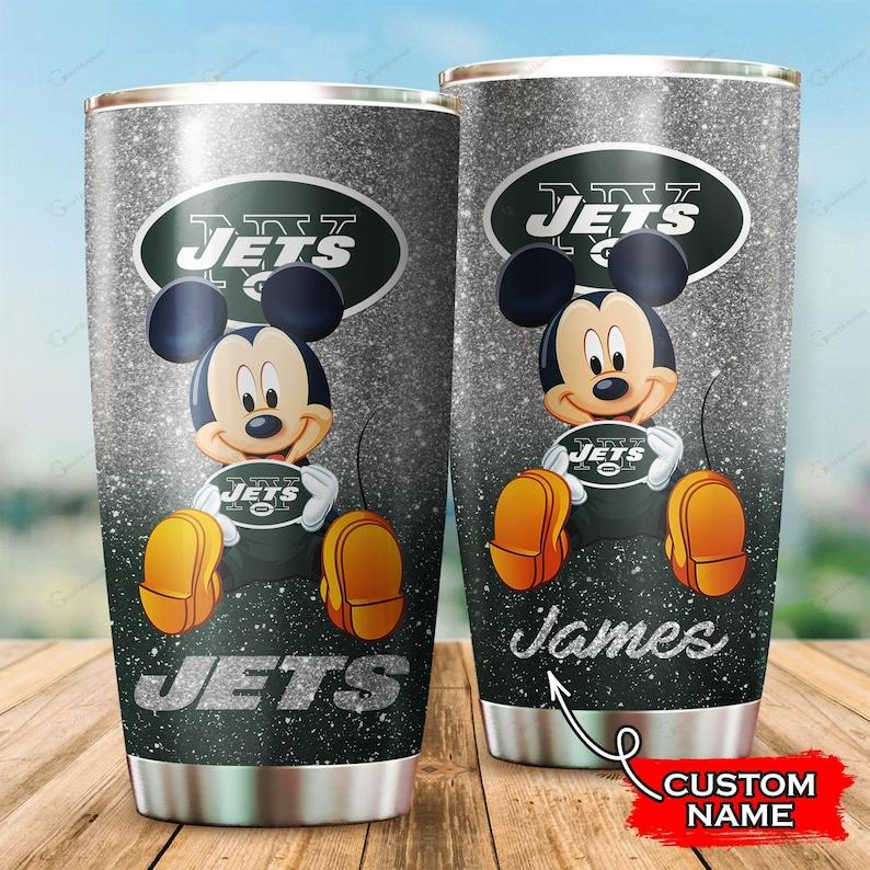 New York Football Team Jets Fan Mickey Personalized 20 Oz Tumbler