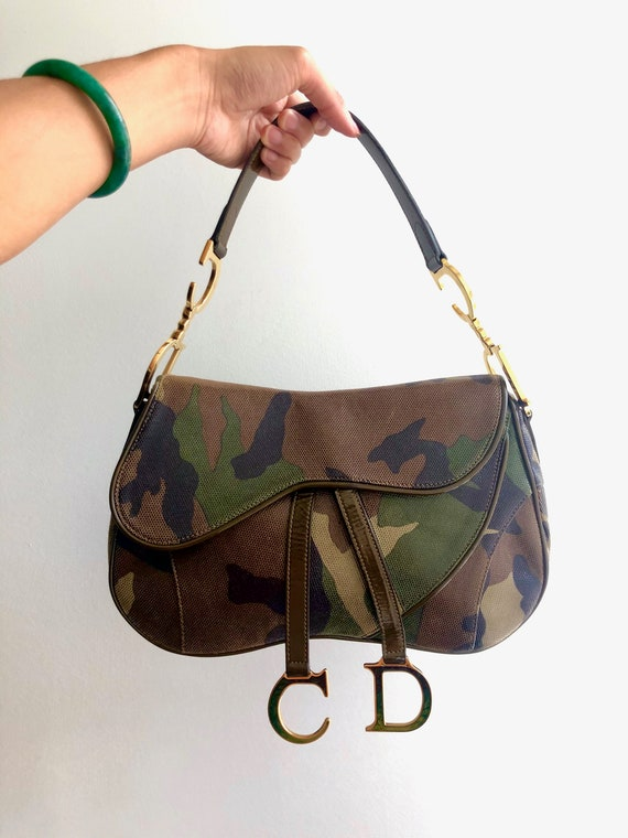 Christian Dior Camouflage Saddle Bag