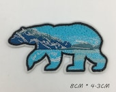 Bear Mountain Ocean Patch,Iron On Patch,Embroidered Iron, Sew On Patch,Patch For Backpack,For Jacket,For Hat