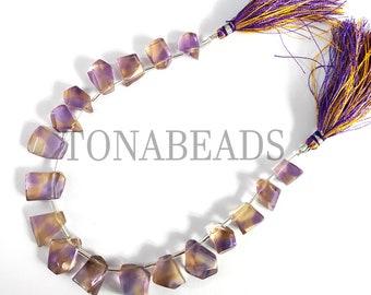 19Pcs Top Quality Raw Matte Finish Ametrine Beads,Ametrine Rough,Ametrine Raw Gemstone,Ametrine Drilled Beads Ametrine Rough Stone Bead,