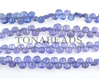 """Tanzanite Heart Shape Faceted Briolette Beads-Faceted Beads-Tanzanite Faceted Bead-Heart Shape Briolette-Tanzanite Beads-Heart Shape Bead-8"""""""