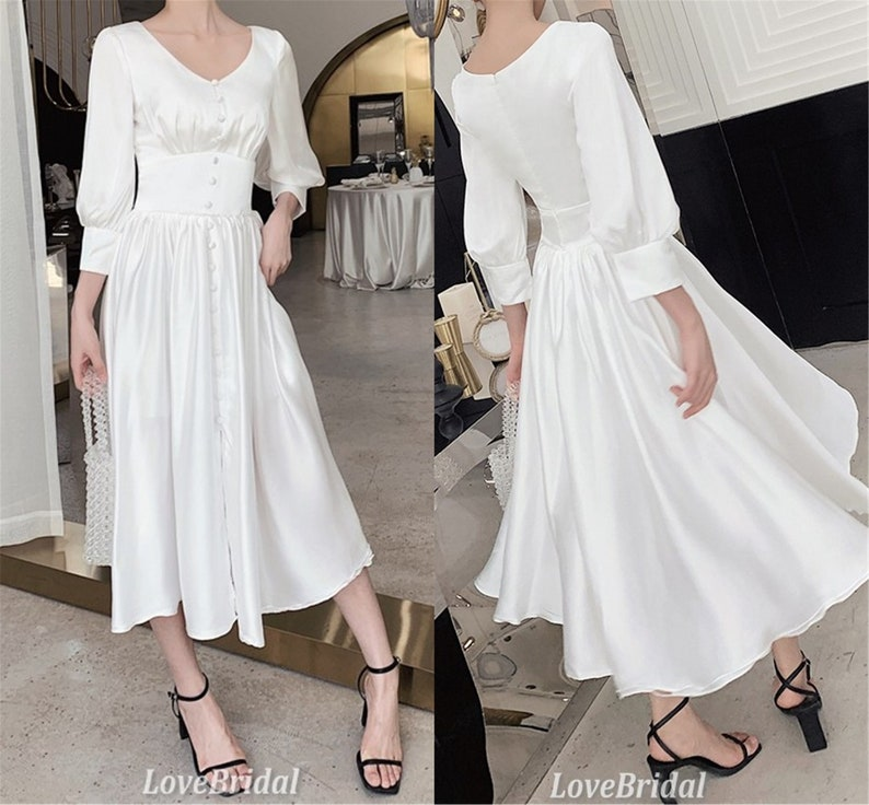 White Tulle Dress for girl Fashionable Bridesmaid Dresses Foral Satin Dress Women Party Gown Lace Elegant Dresses V-neck Simple Club dresses