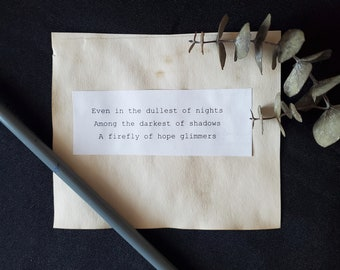 Coffee Stained Poems   Mini Postcards with original poem   Pocket Poems for Wallets