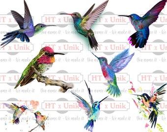 8 Hummingbird SVG, PNG, JPEG. Hummingbird 3D Print. Watercolor Hummingbird, Hummingbird Drawing. Hummingbird Cut File Cricut, Silhouette