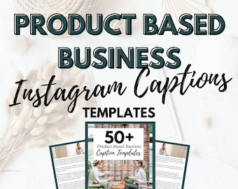 50 Product Based Business Instagram Caption Templates   Small Business Templates   Products Launch Kit   Business Social Media Marketing  