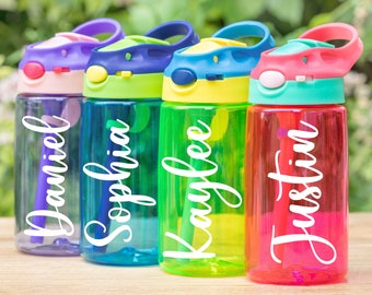 Kids Water Bottle | Personalized Water Bottle | Kids Water Tumbler | Kids Cup | Custom Kids Bottle |Kids Gift Back To School |Stocking Gifts