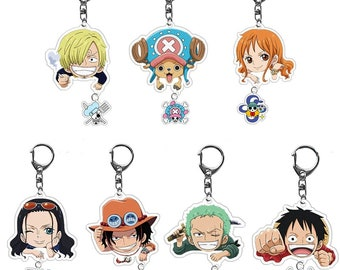 Anime One Piece Wanted Nico Robin Keychain Ornament Keyring Alloy Cosplay Gift