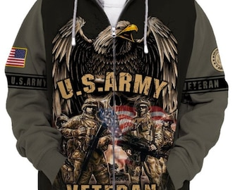 U.S Army Special Forces Embroidered Fleece Vest-16352